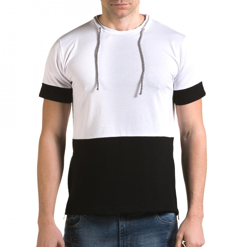 Ανδρική λευκή κοντομάνικη μπλούζα Man it090216-70