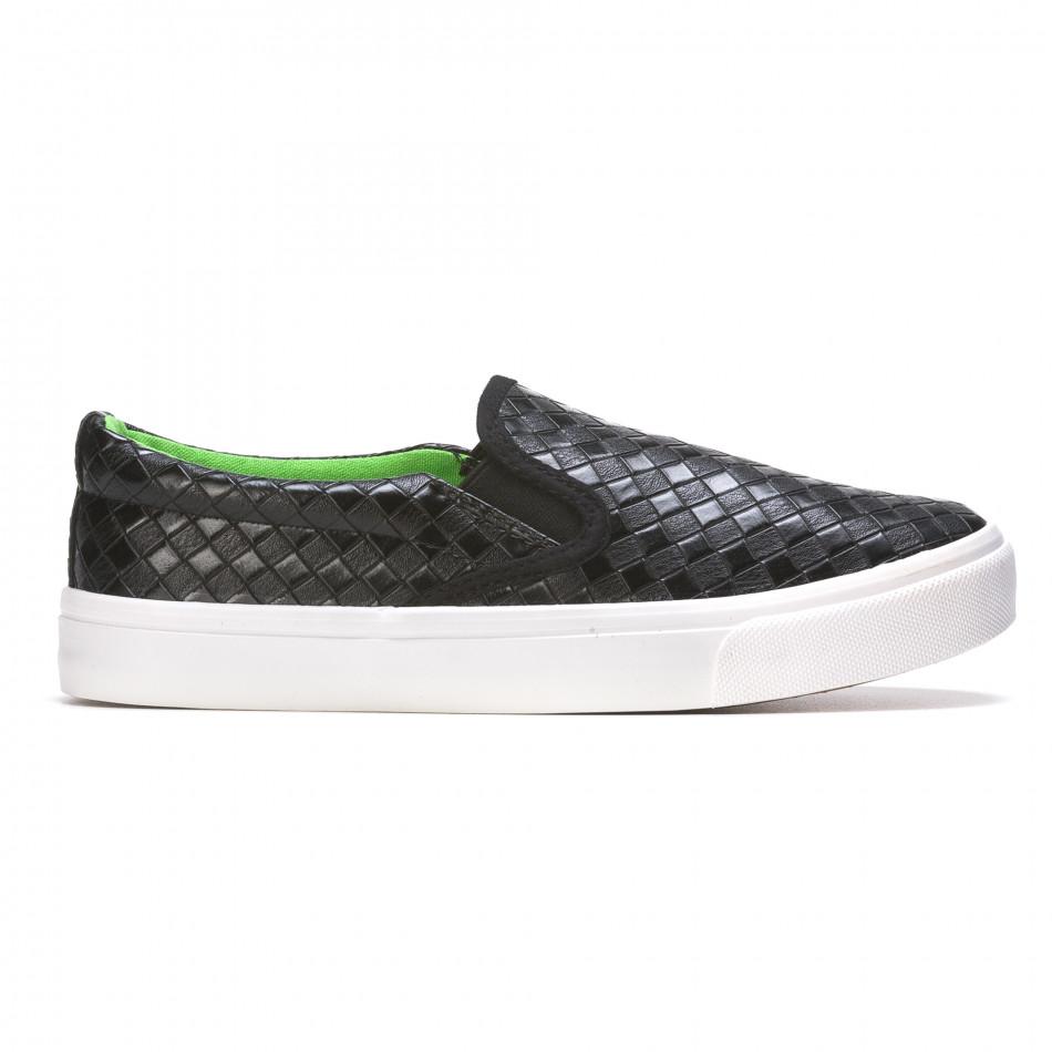 Ανδρικά μαύρα sneakers Niweile It050216-9