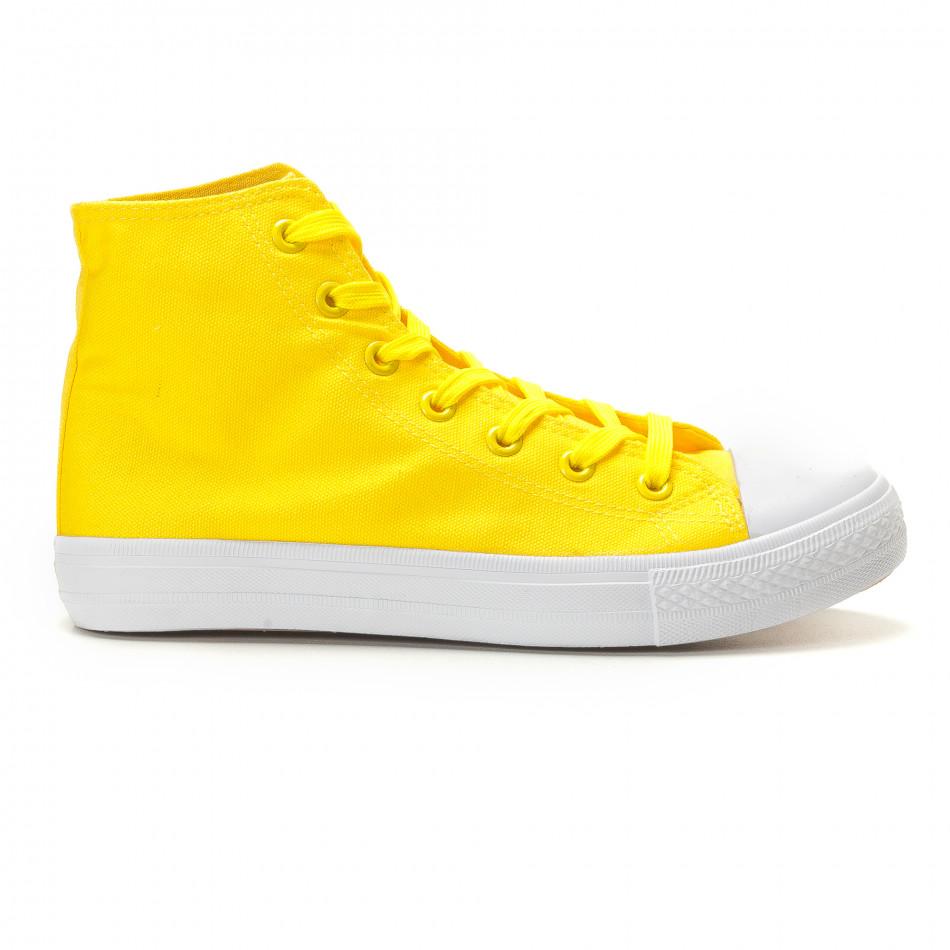 Ανδρικά κίτρινα sneakers Bella Comoda it260117-51