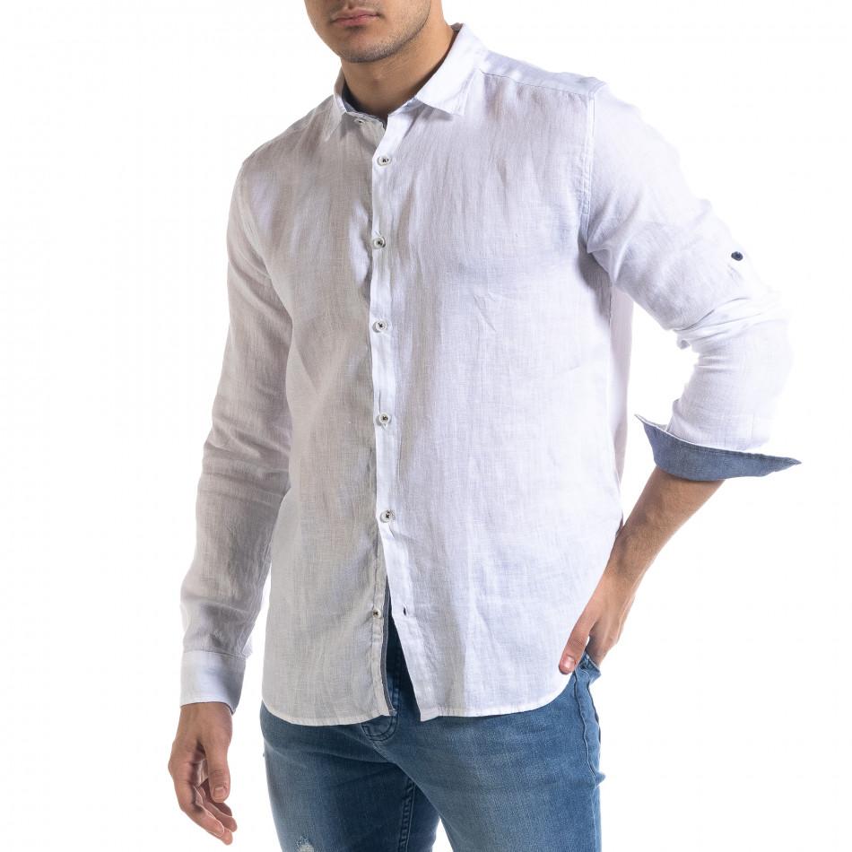 Ανδρικό λευκό πουκάμισο RNT23 tr110320-94