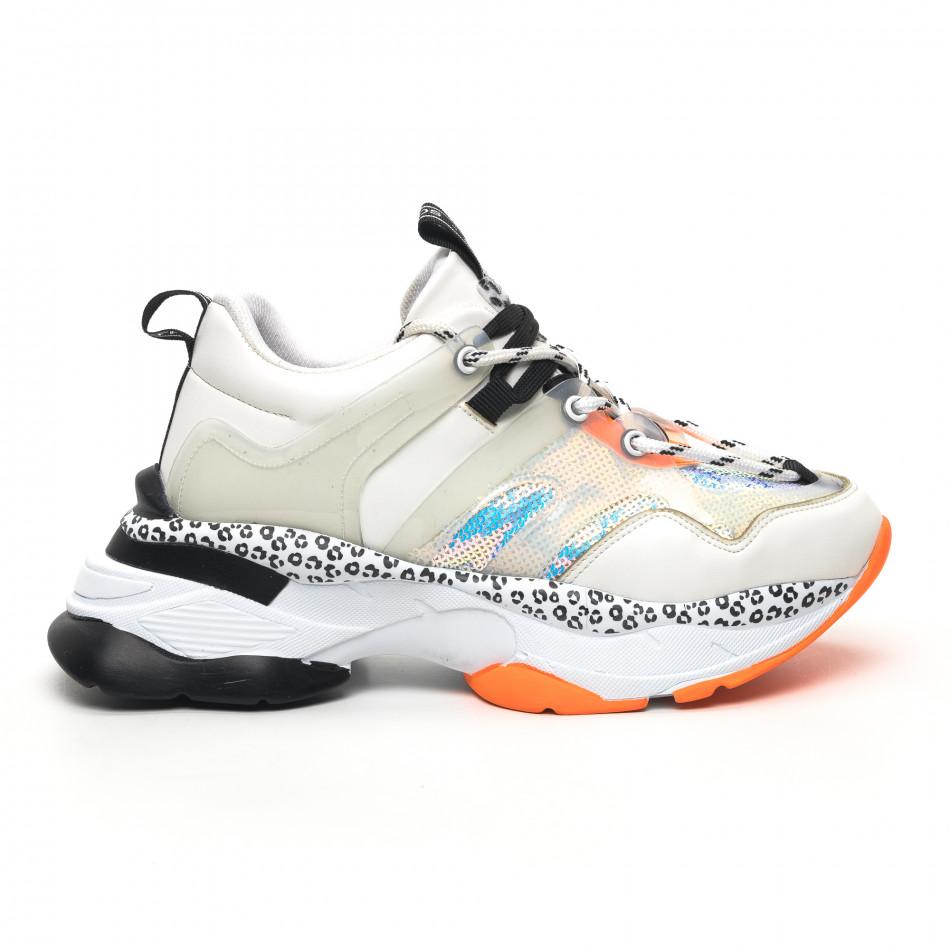 Γυναικεία λευκά sneakers Sense8 tr180320-13