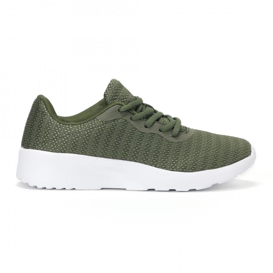 Ανδρικά πράσινα διχτυωτά αθλητικά παπούτσια  it160318-36