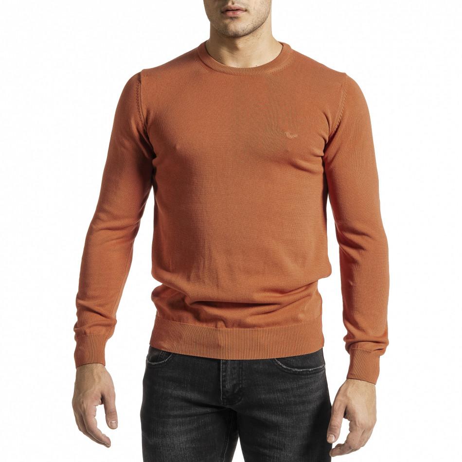 Ανδρικό πορτοκαλί πουλόβερ Code Casual tr231220-3