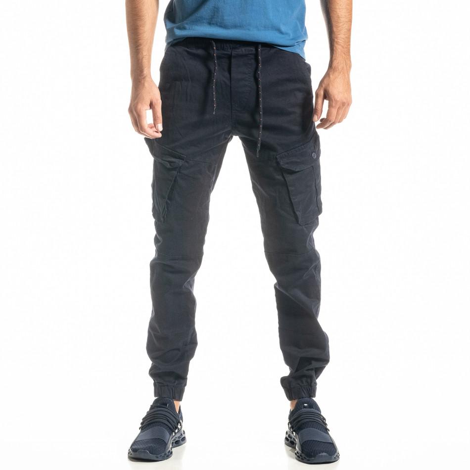 Ανδρικό μπλε παντελόνι cargo Jogger tr300920-9