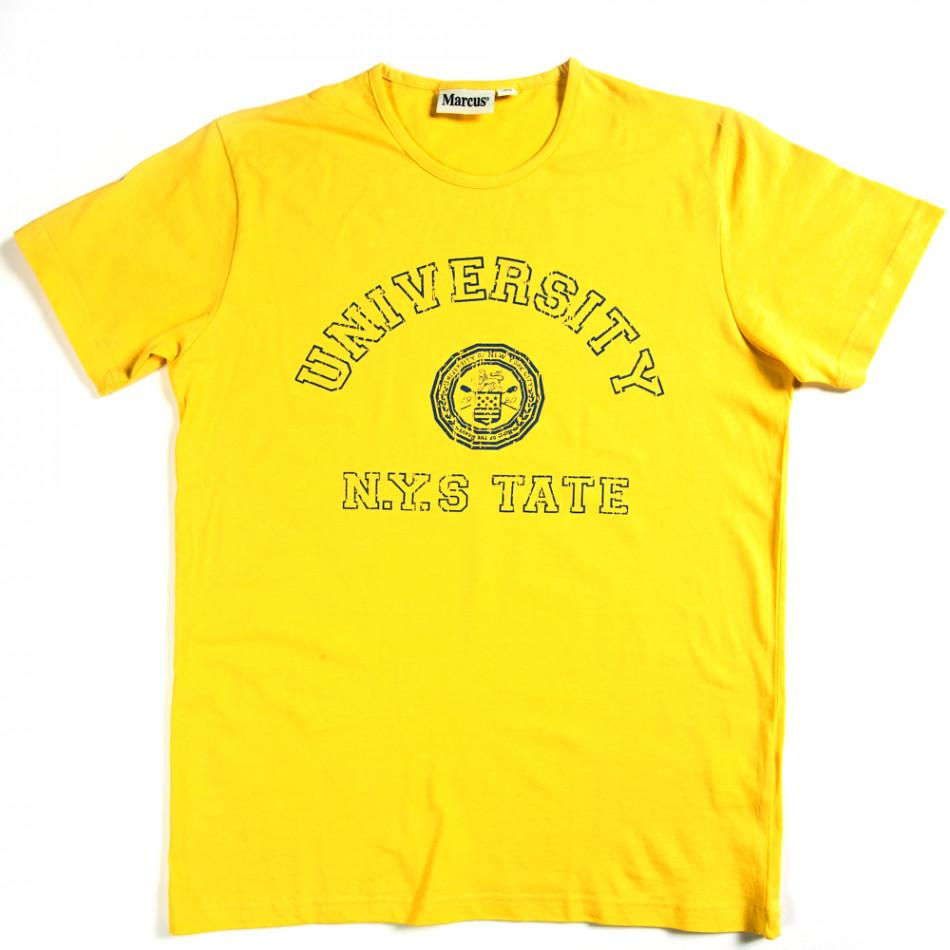 Ανδρική κίτρινη κοντομάνικη μπλούζα Marcus 070213-1