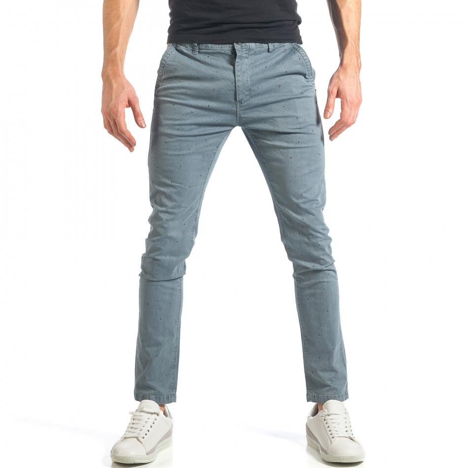 Ανδρικό γαλάζιο παντελόνι XZX-Star it290118-37