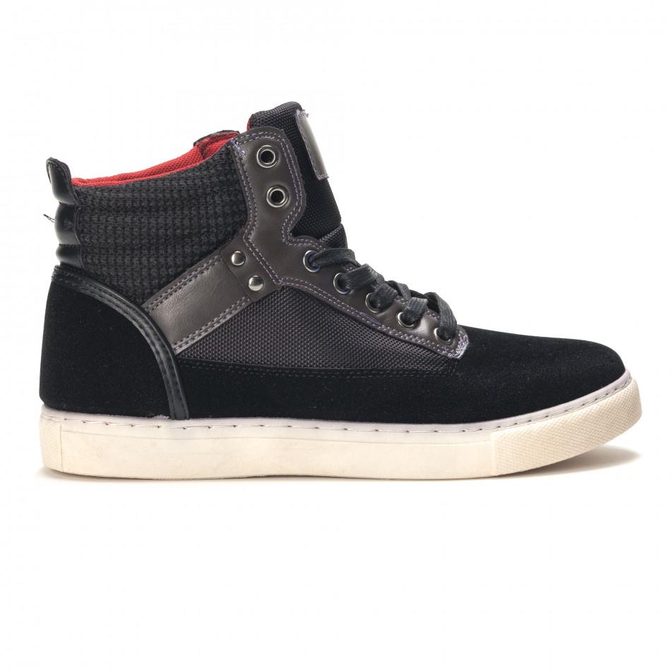 Ανδρικά μαύρα sneakers Reeca it100915-22