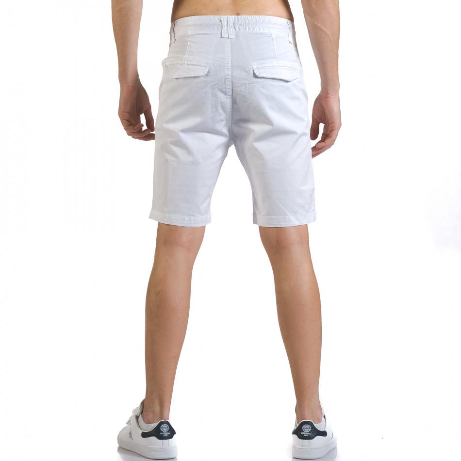M Bel Marshall ανδρικό λευκό βερμούδα marshall it110316 37 fashionmix gr