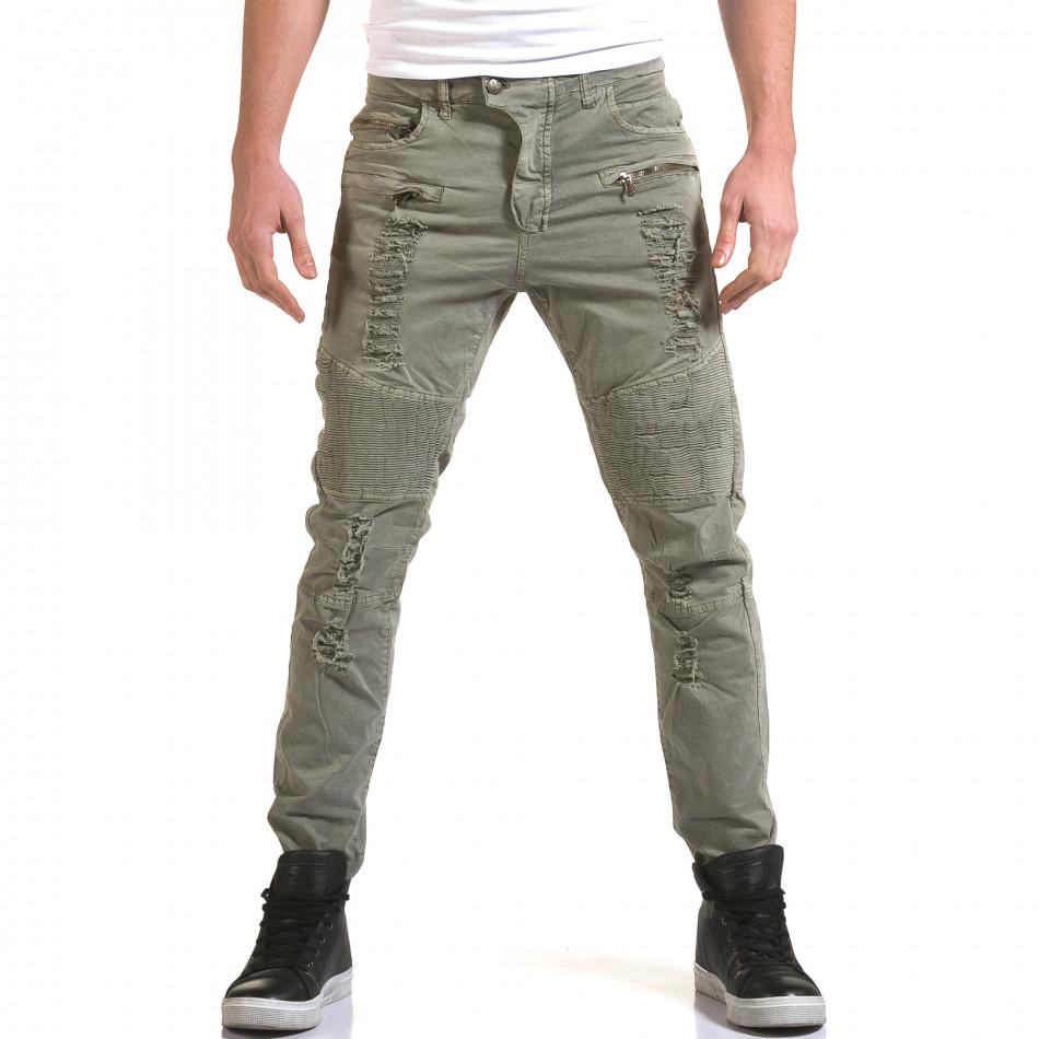 Ανδρικό γκρι παντελόνι Maximal it090216-8
