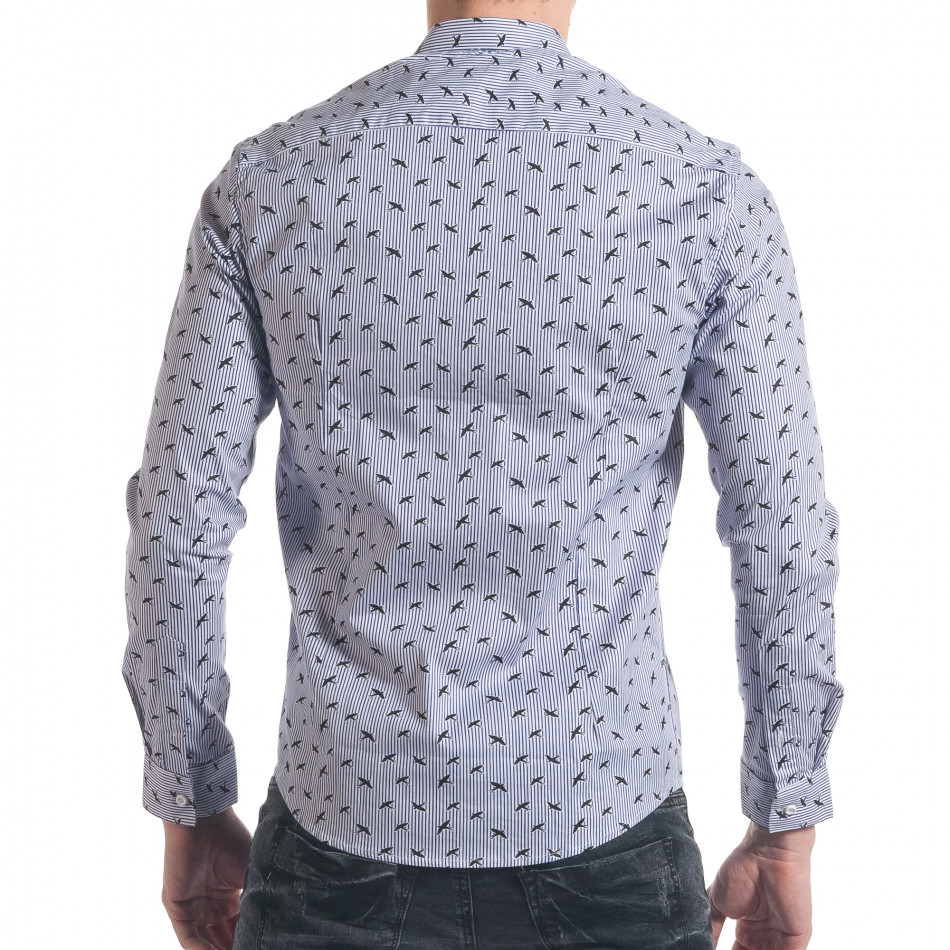 a08c0172da92 Ανδρικό γαλάζιο πουκάμισο Furia Rossa it140317-2 - Fashionmix.gr