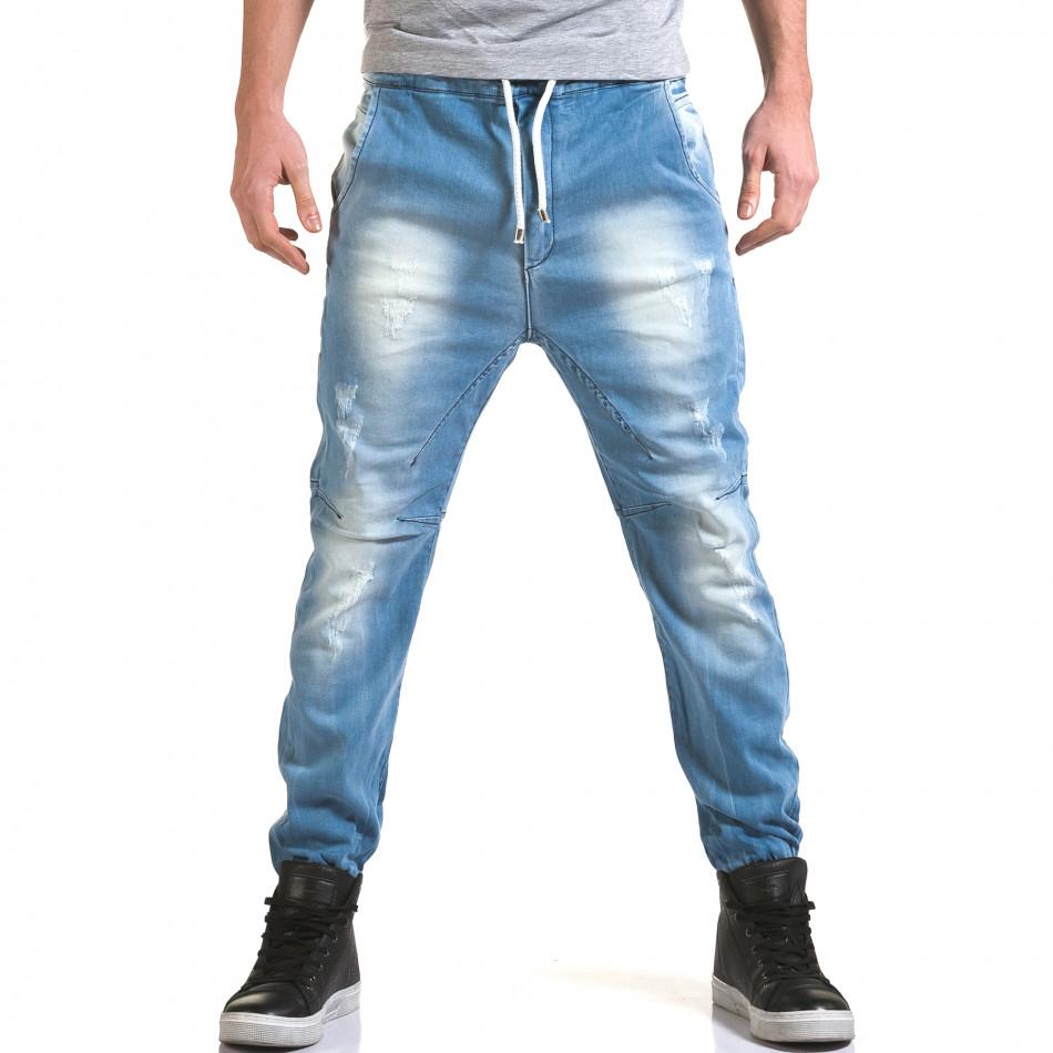 Ανδρικό γαλάζιο τζιν QBR it090216-18