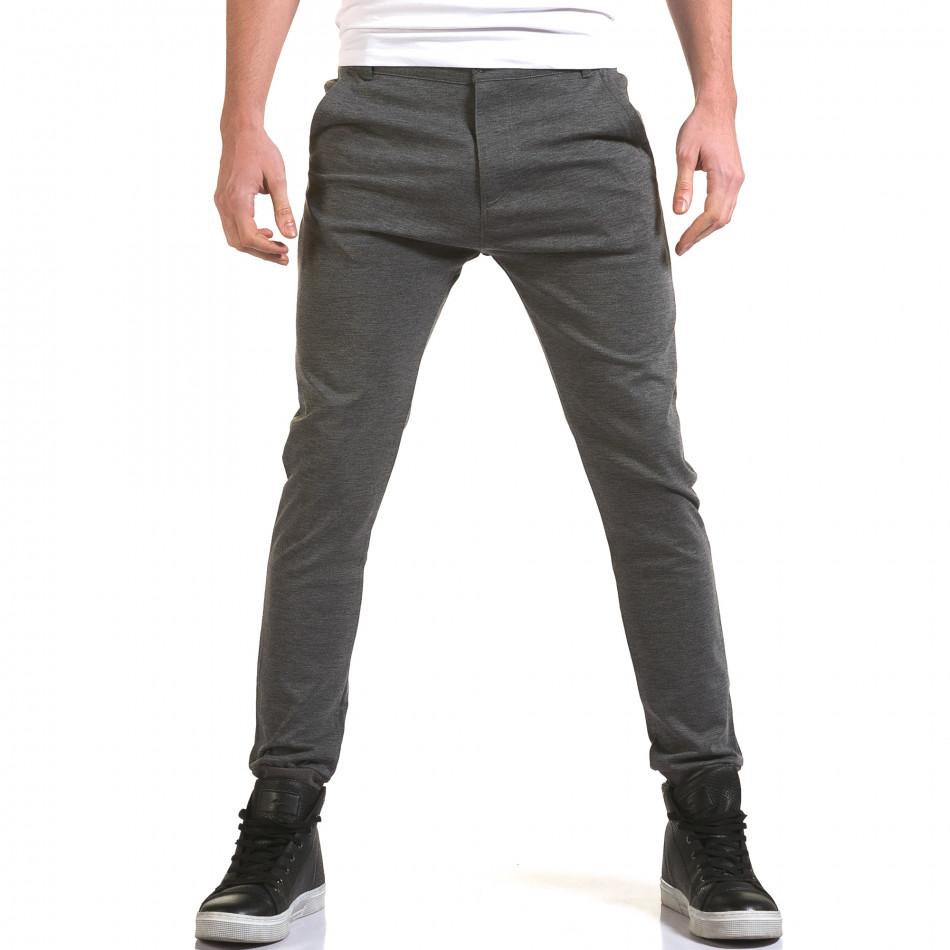 Ανδρικό γκρι παντελόνι Jack Berry it090216-28