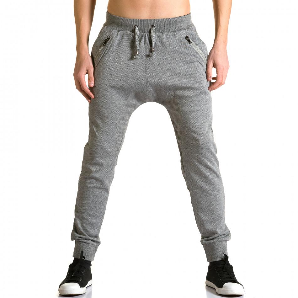 Ανδρικό γκρι παντελόνι jogger Furia Rossa ca190116-17