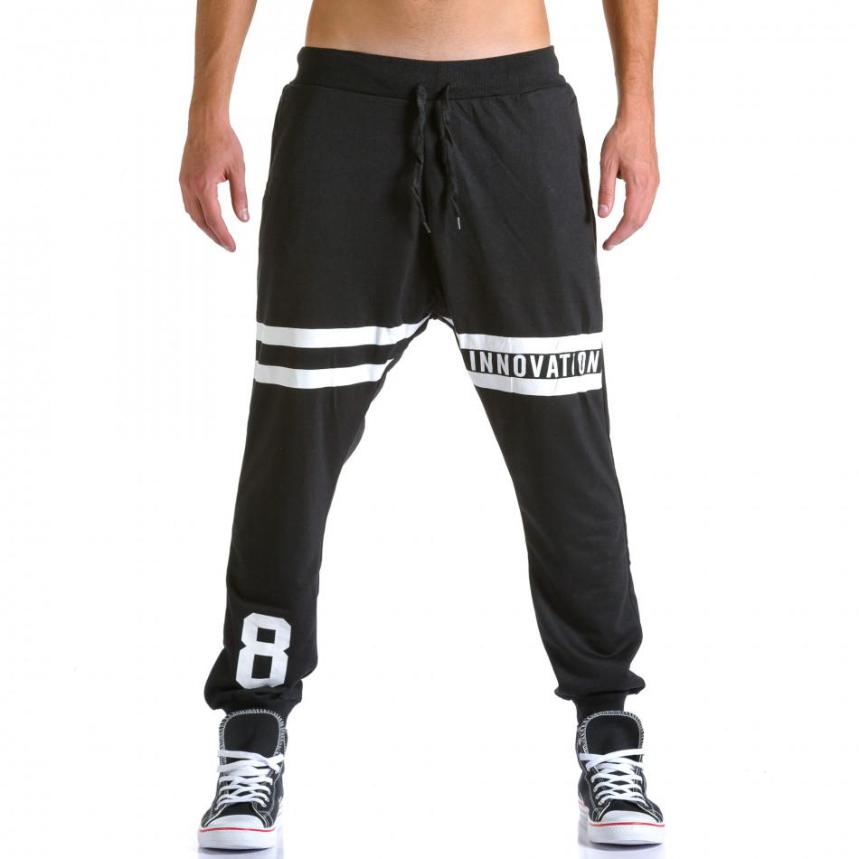 Ανδρικό μαύρο παντελόνι jogger Eadae Wear ca260815-30