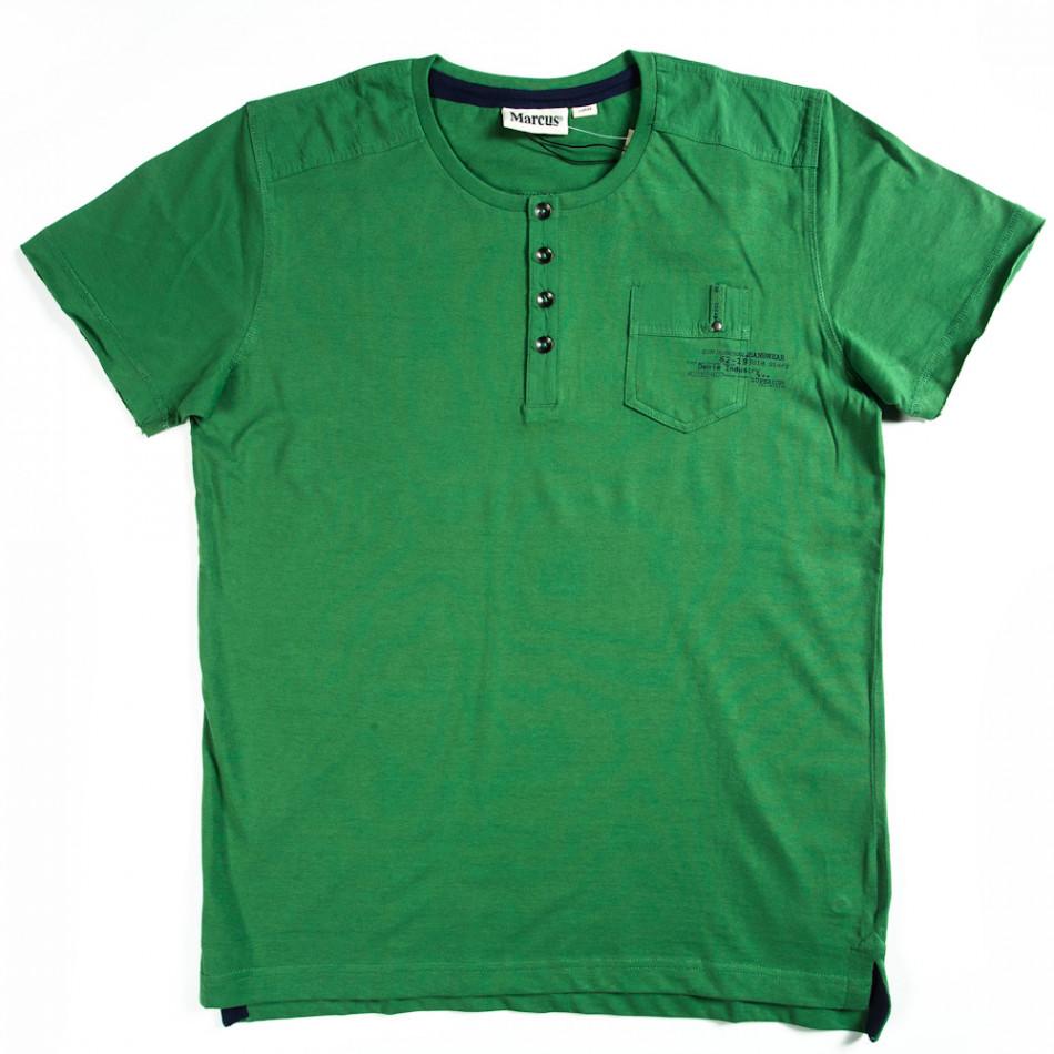 Ανδρική πράσινη κοντομάνικη μπλούζα Marcus 070213-16