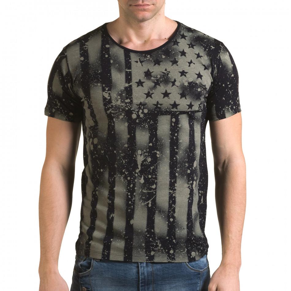 Ανδρική γαλάζια κοντομάνικη μπλούζα Lagos il120216-46