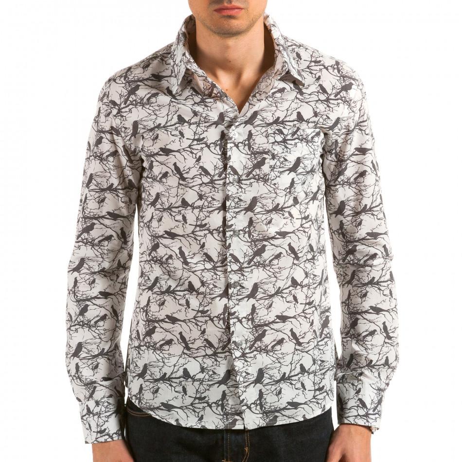 Ανδρικό λευκό πουκάμισο Catch il180215-188