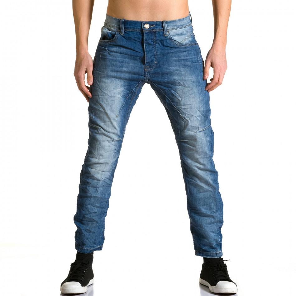 Ανδρικό γαλάζιο τζιν Justing ca190116-9