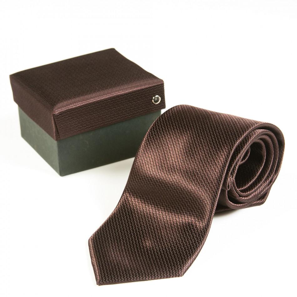 Ανδρική καφέ γραβάτα Fashionmix 080213-19