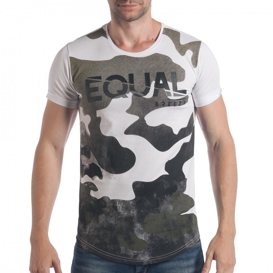 Ανδρική καμουφλαζ κοντομάνικη μπλούζα Breezy tsf090617-24