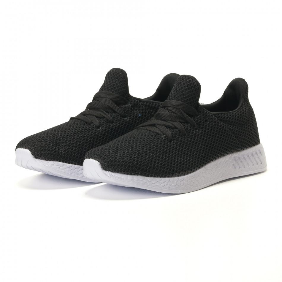 Ανδρικά μαύρα αθλητικά παπούτσια Naban it100317-7