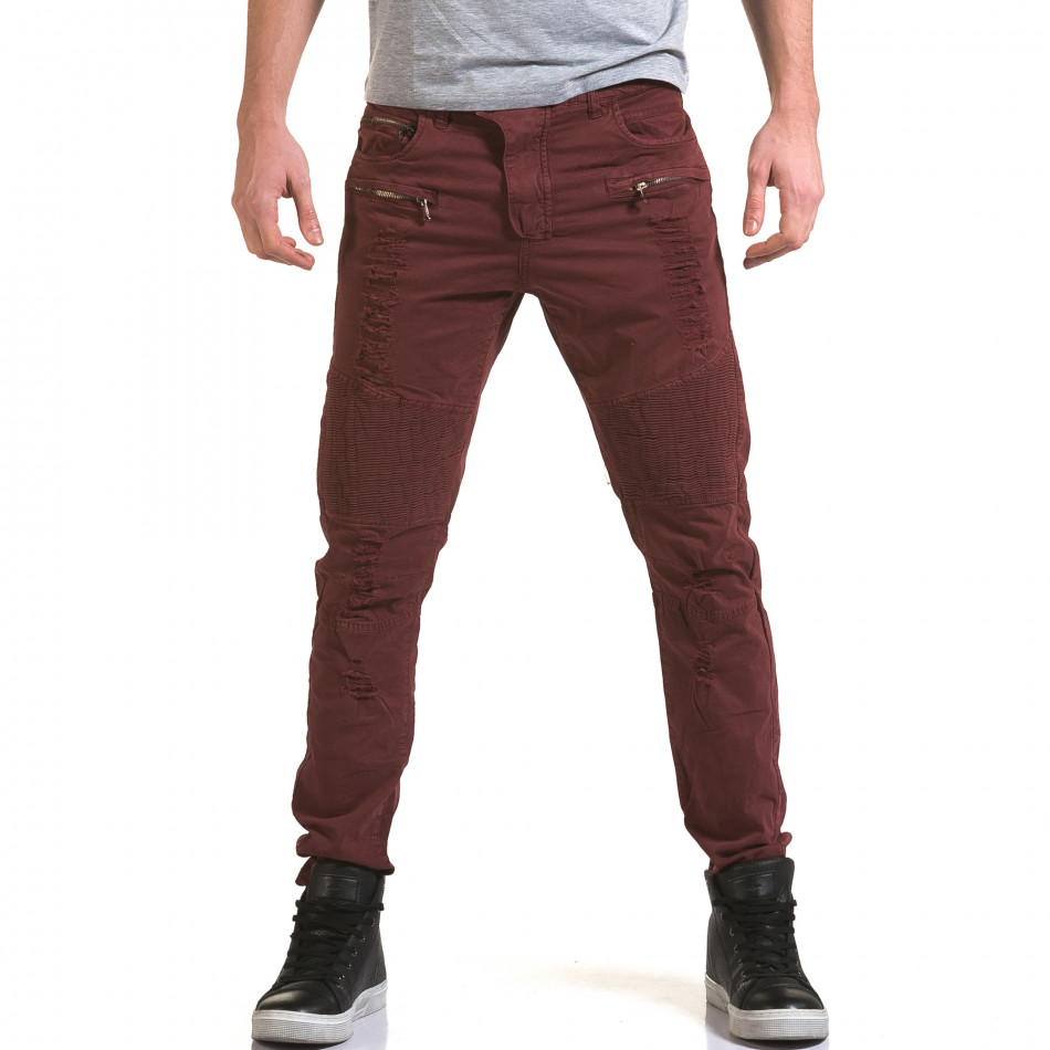Ανδρικό κόκκινο παντελόνι Maximal it090216-9