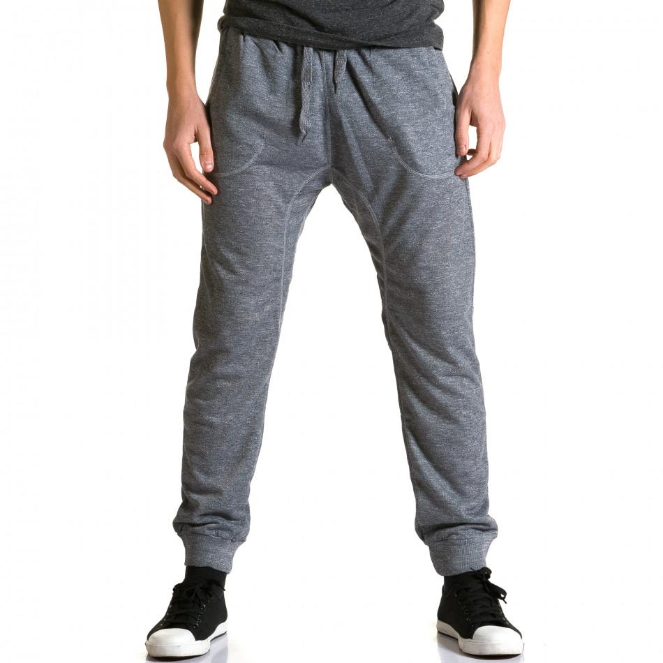 Ανδρικό γκρι παντελόνι jogger Dress & GO ca190116-28