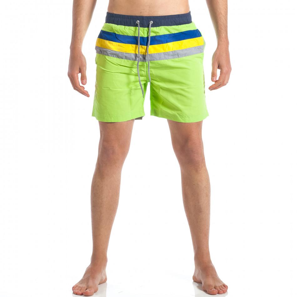 Ανδρικό πράσινο μαγιό Austar Jeans it190417-105