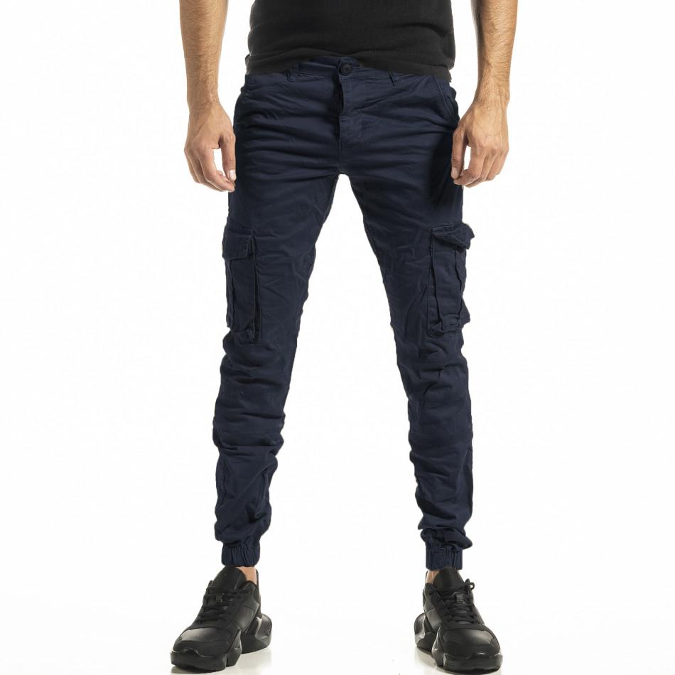 Ανδρικό γαλάζιο παντελόνι Cargo Jogger tr161220-21