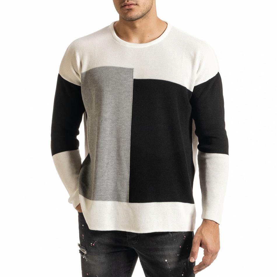 Ανδρικό λευκό πουλόβερ Lagos it301020-28