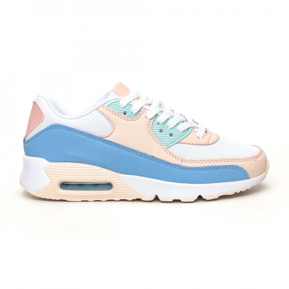 Γυναικεία αθλητικά παπούτσια με αερόσολα σε απαλά χρώματα it051219-12