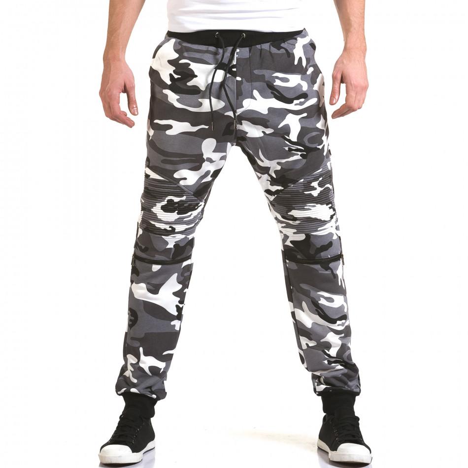 Ανδρικό γκρι παντελόνι jogger Maximal it090216-60