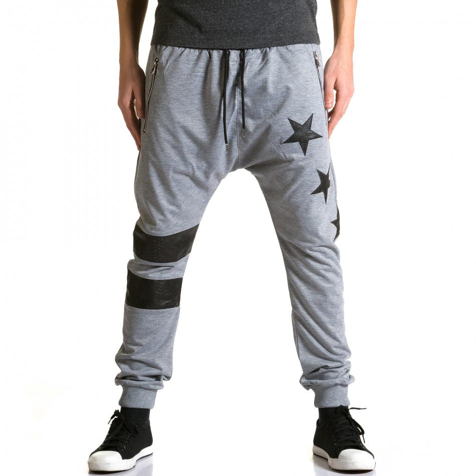 Ανδρικό γκρι παντελόνι jogger Jack Davis ca190116-20