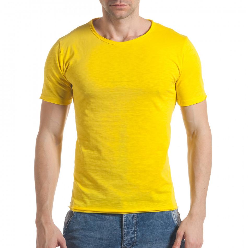 87736ab49d85 Ανδρική κίτρινη κοντομάνικη μπλούζα Enjoy it030217-7 - Fashionmix.gr