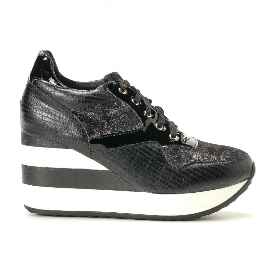 Γυναικεία μαύρα αθλητικά παπούτσια Sergio Todzi it200917-29