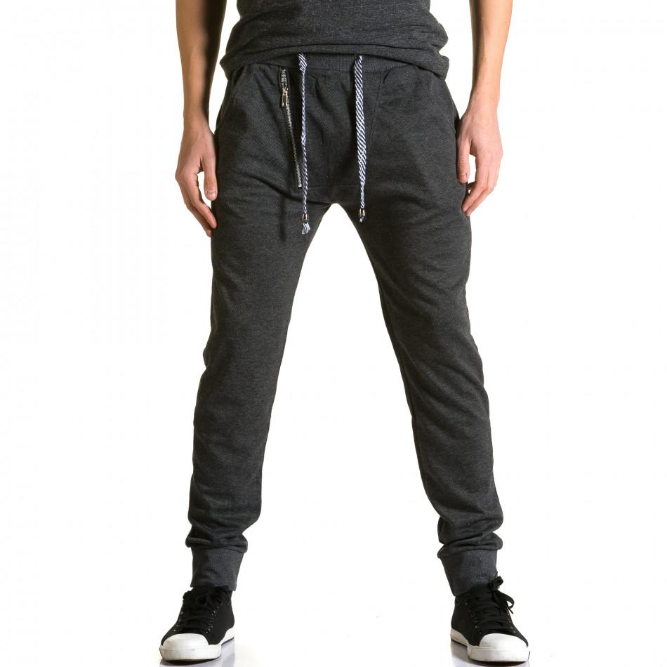 Ανδρικό μαύρο παντελόνι jogger Furia Rossa ca190116-16