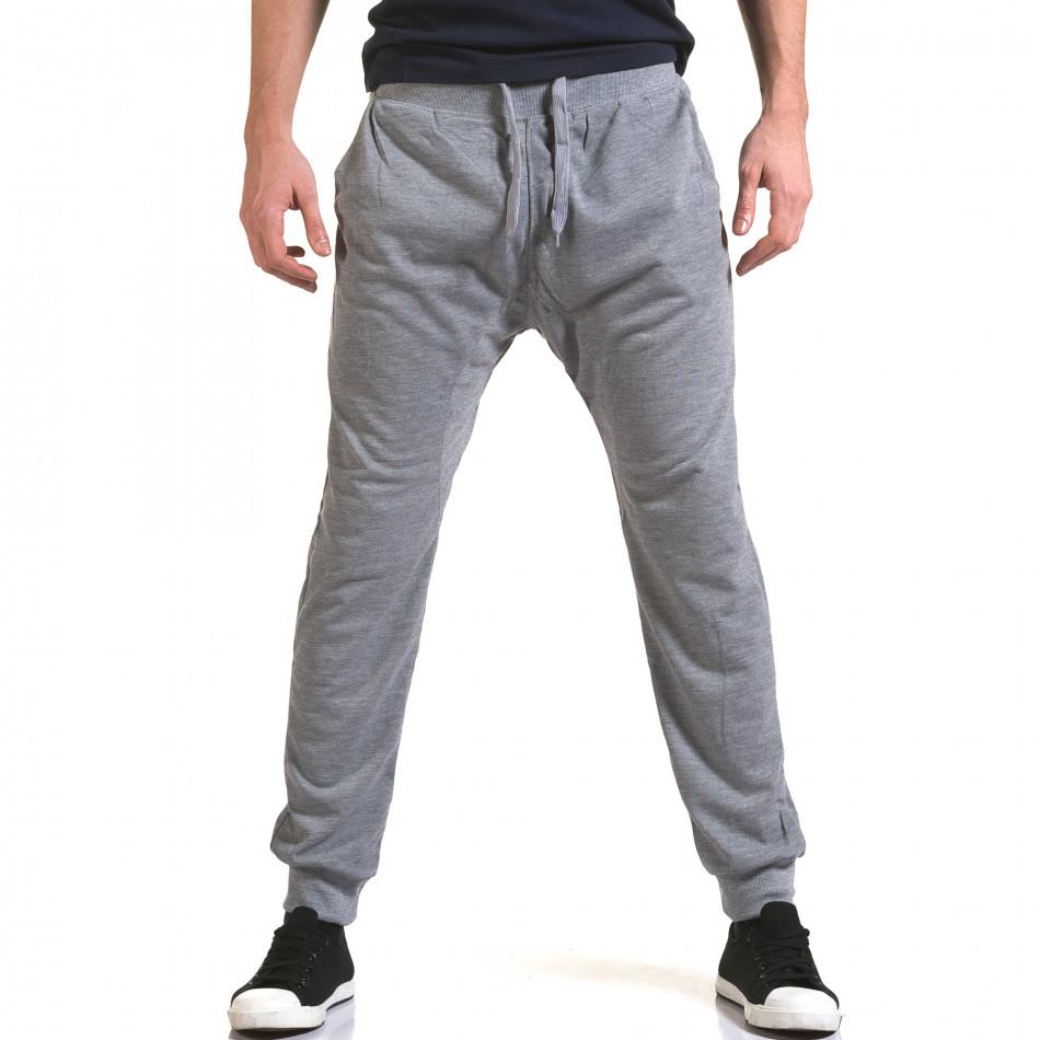 Ανδρικό γκρι παντελόνι jogger Dress&GO it090216-38