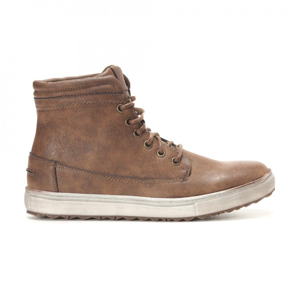 Ανδρικά καφέ sneakers Gradella it291117-32