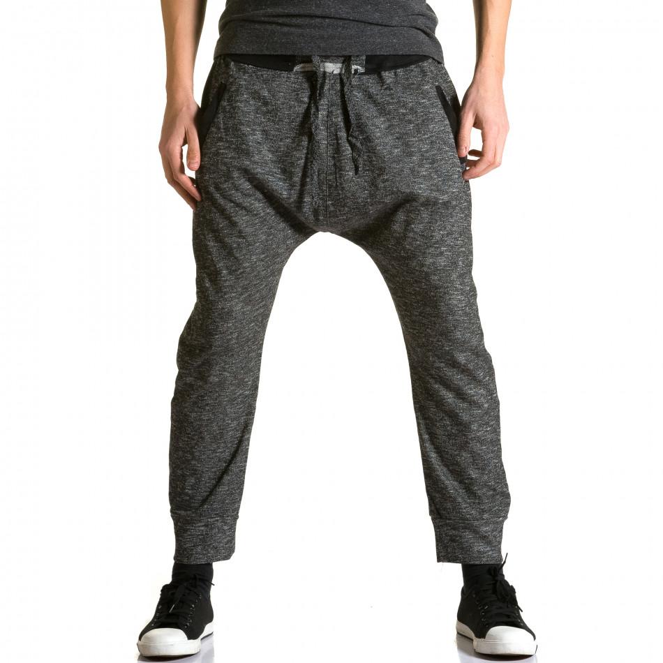 Ανδρικό γκρι παντελόνι jogger Max & Jenny ca190116-23
