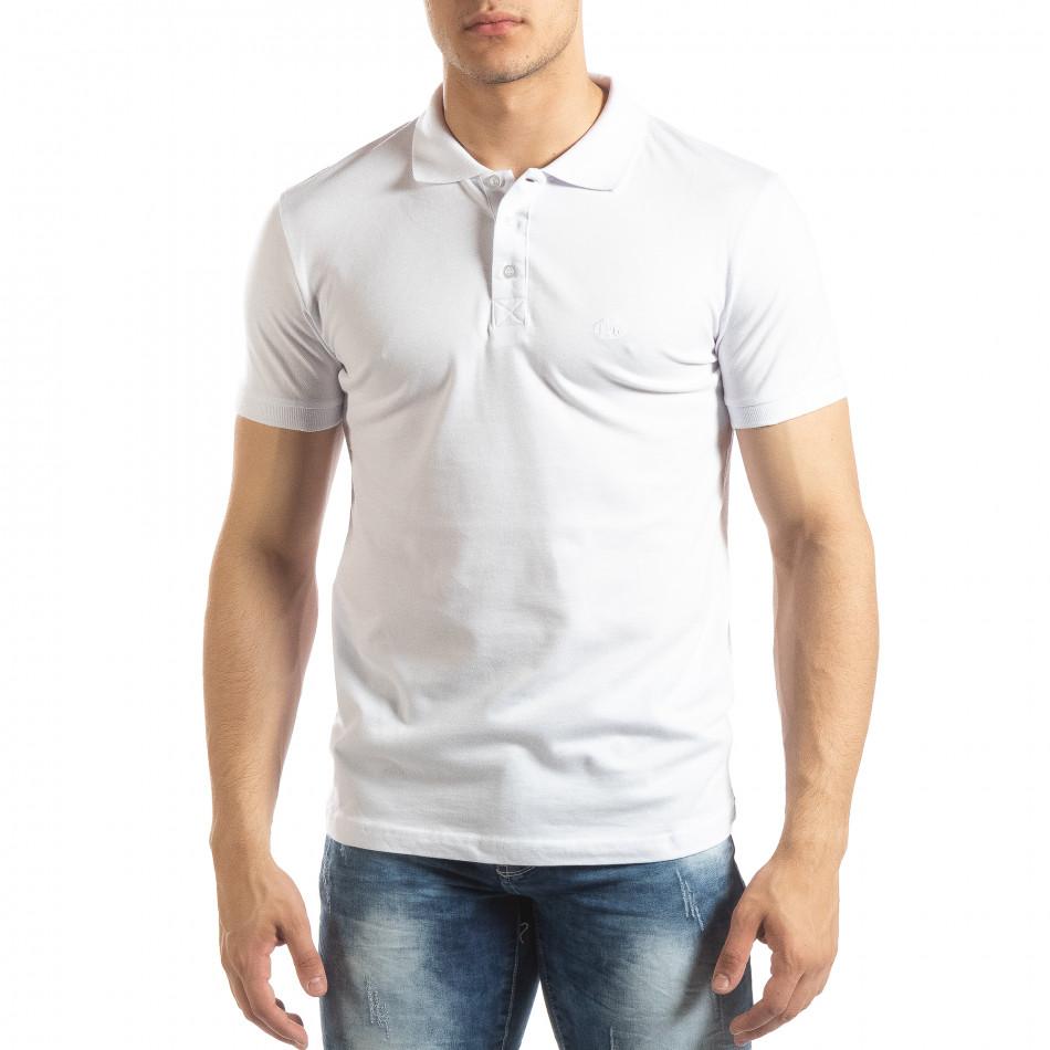 Ανδρική λευκή Polo Shirt it150419-97