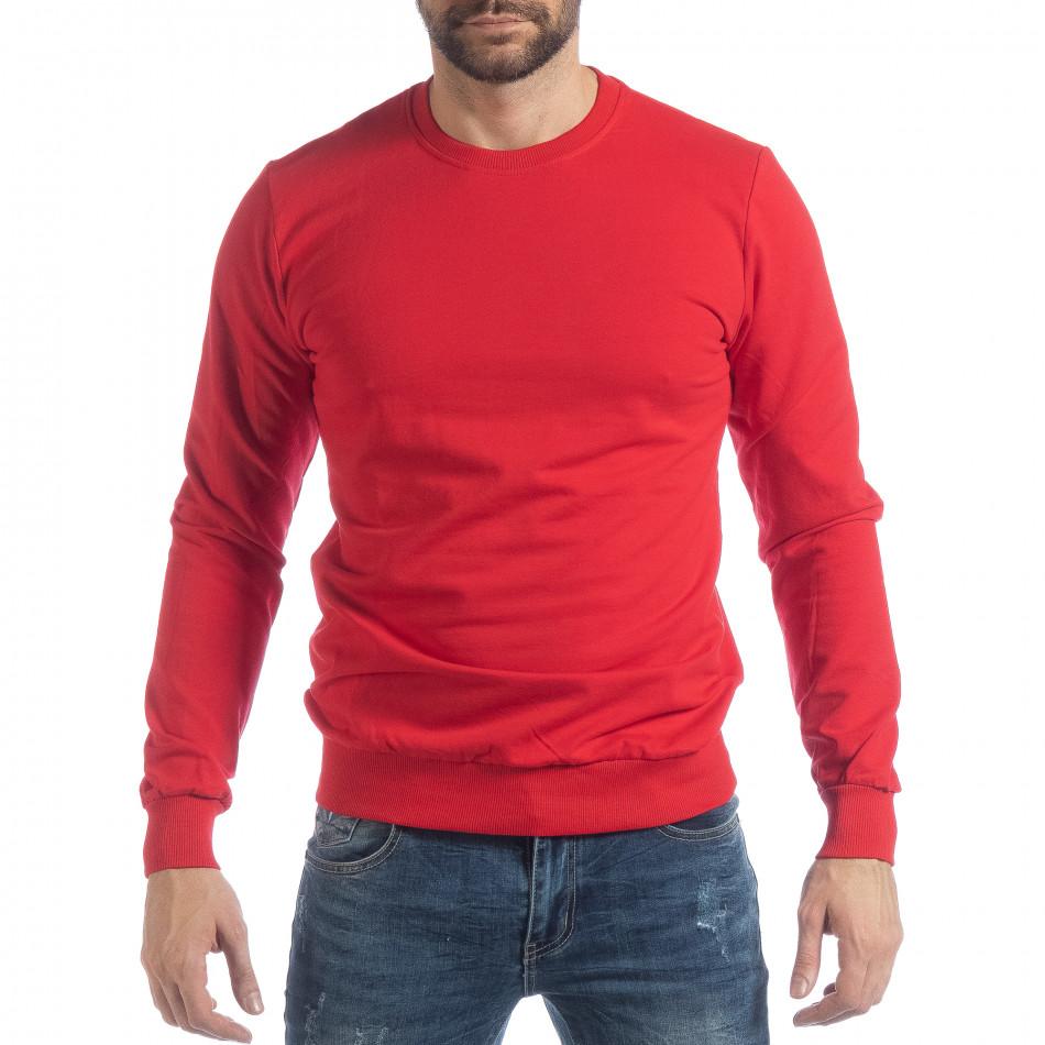 Ανδρική κόκκινη μπλούζα Basic it040219-92