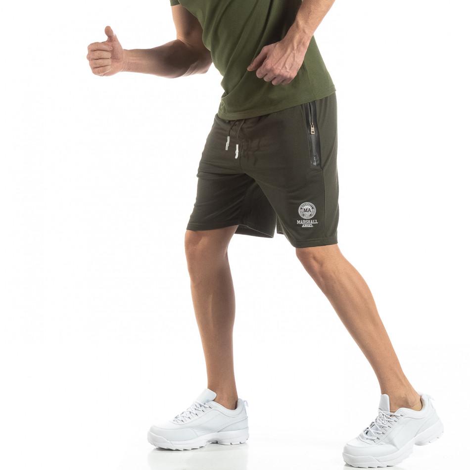Ανδρικό πράσινο αθλητικό σορτς   it210319-69