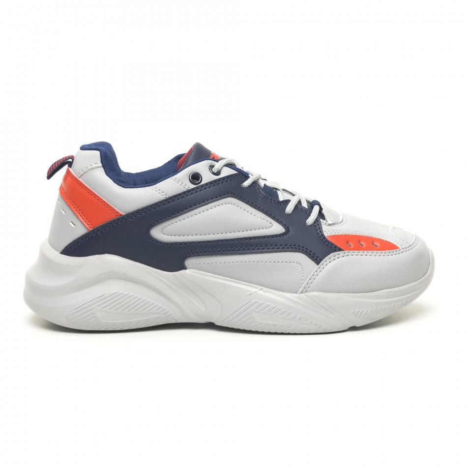 Ανδρικά γκρι αθλητικά παπούτσια ελαφρύ μοντέλο it251019-14