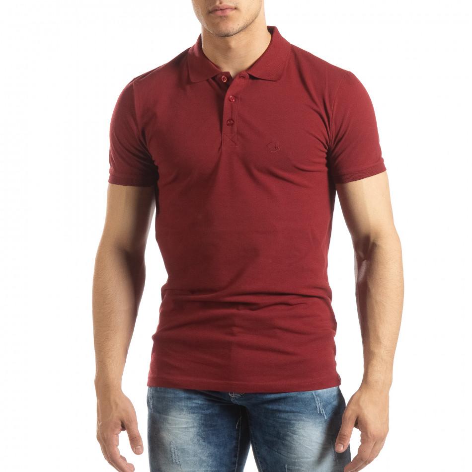 Ανδρική κόκκινη Polo Shirt it150419-95