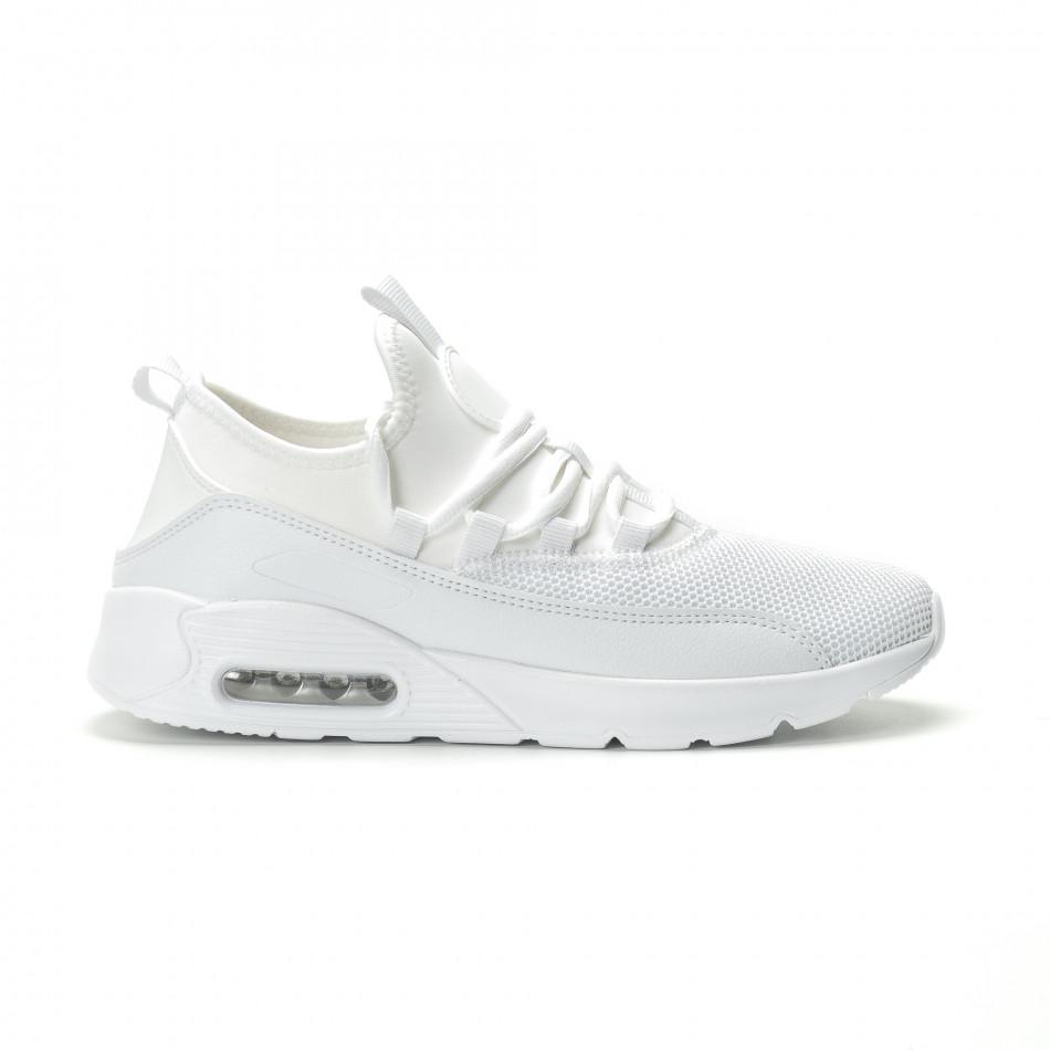 Ανδρικά λευκά αθλητικά παπούτσια Air ελαφρύ μοντέλο it250119-28