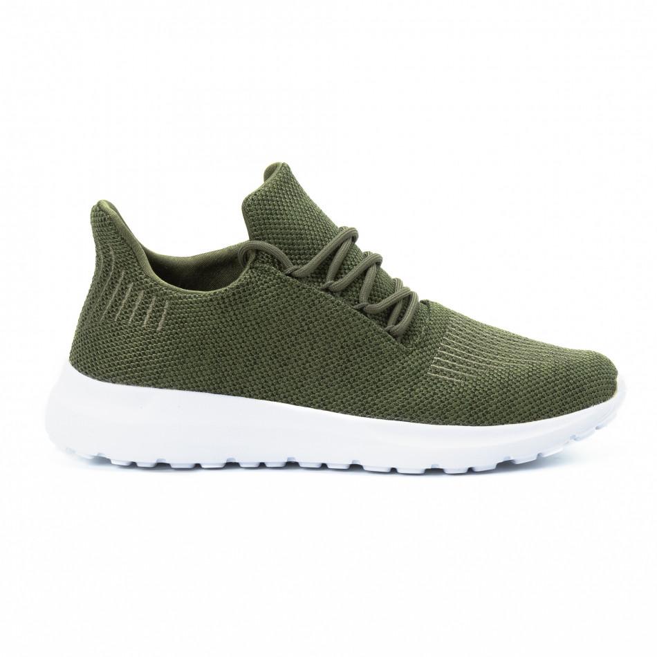 Ανδρικά πράσινα αθλητικά παπούτσια ελαφρύ μοντέλο it140918-17