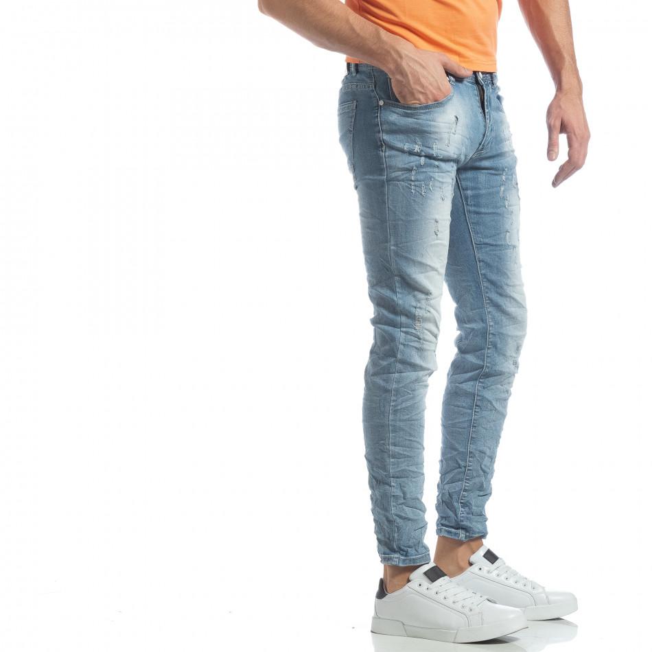 Ανδρικό γαλάζιο τζιν Slim fit it040219-12