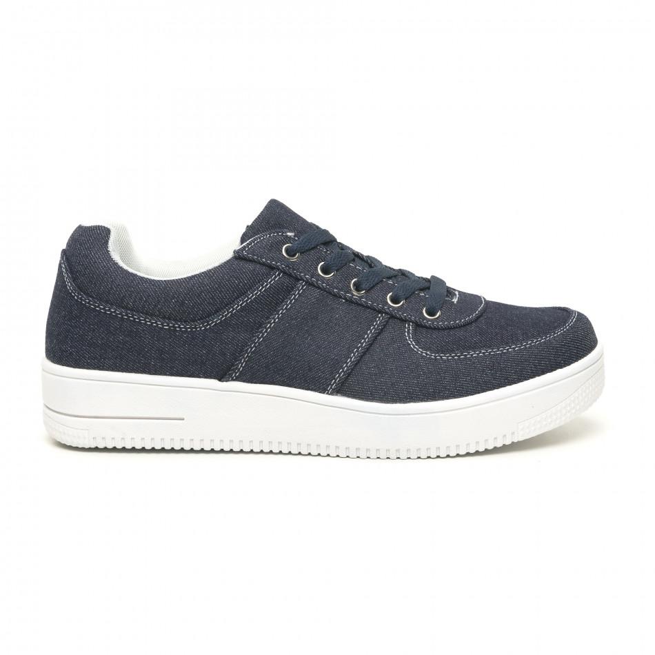 Ανδρικά ντένιμ  sneakers ελαφρύ μοντέλο it251019-2
