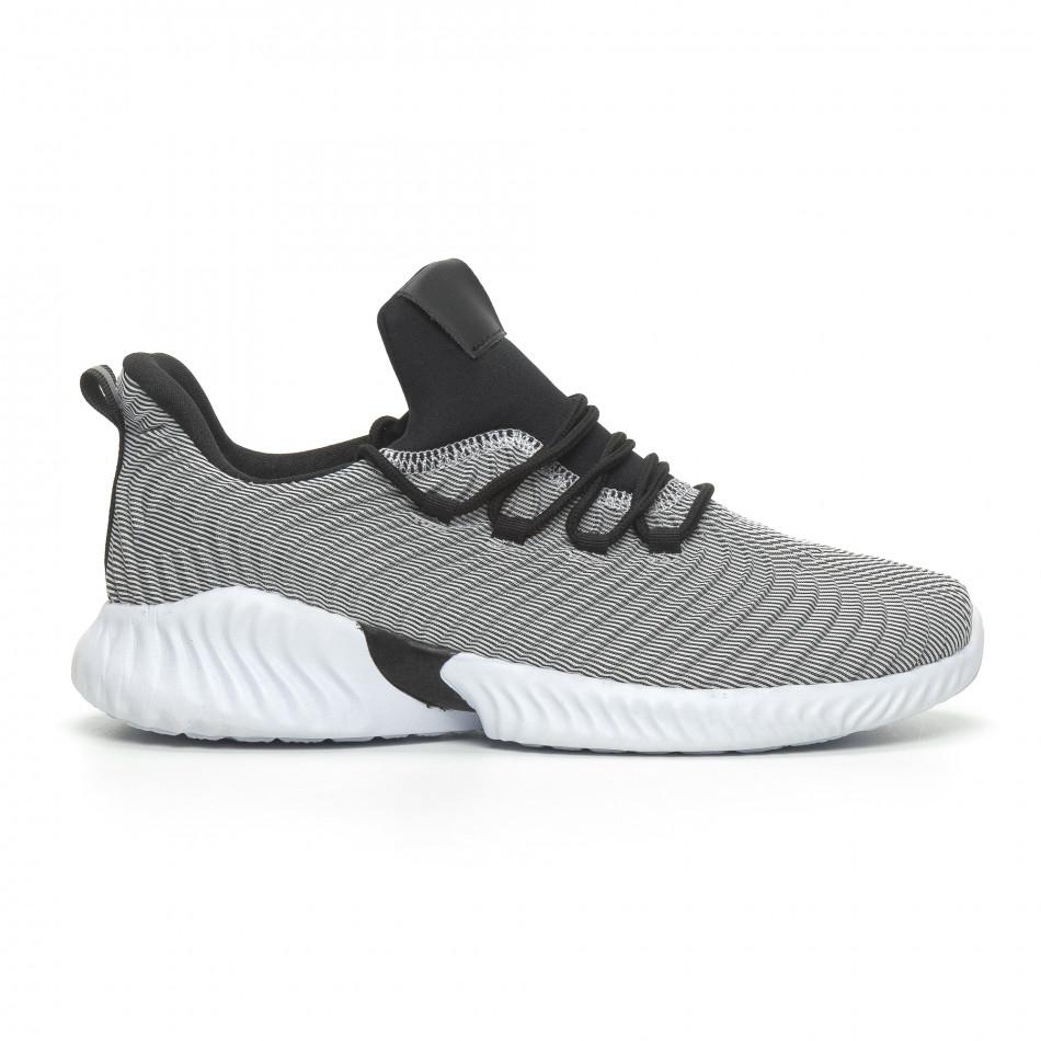 Ανδρικά γκρι αθλητικά παπούτσια Wave ελαφρύ μοντέλο it100519-5