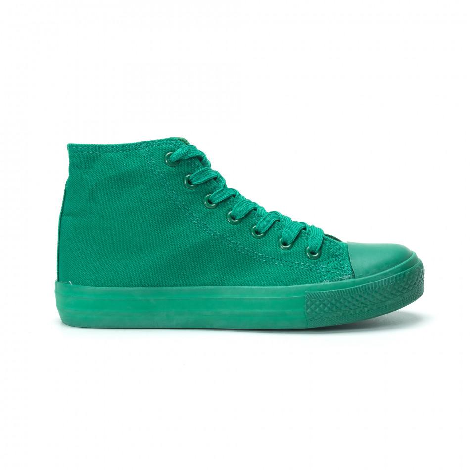 Γυναικεία πράσινα ψηλά sneakers it250119-77